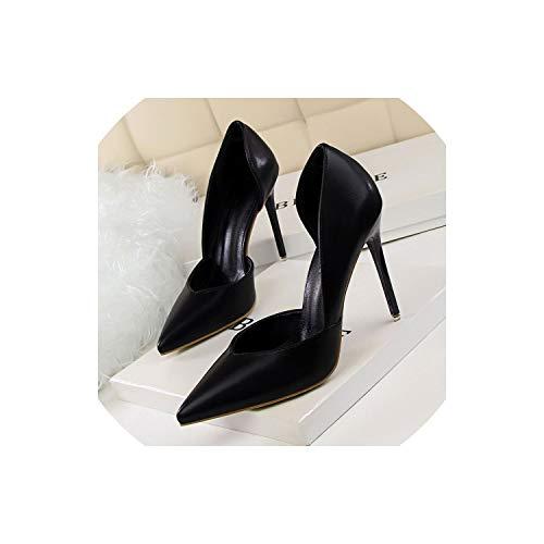 3' Platform Black Pump - Sunshine-Family Women Shoes Bridal Wedding Shoes,Black,7.5