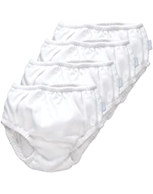 iPlay Ultimate Swim Diaper - White, 4 Pack (18 Months)