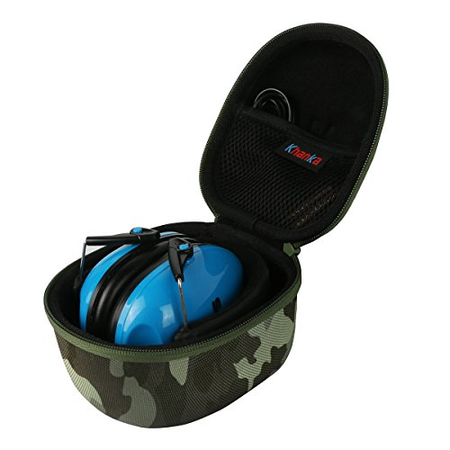 Khanka EVA Carrying Storage Travel Hard Case Cover Bag for Snug Safe n Sound Kids Earmuffs - Camo