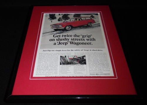 1966 Jeep Wagoneer 4WD Snow 11x14 Framed ORIGINAL Vintage Advertisement