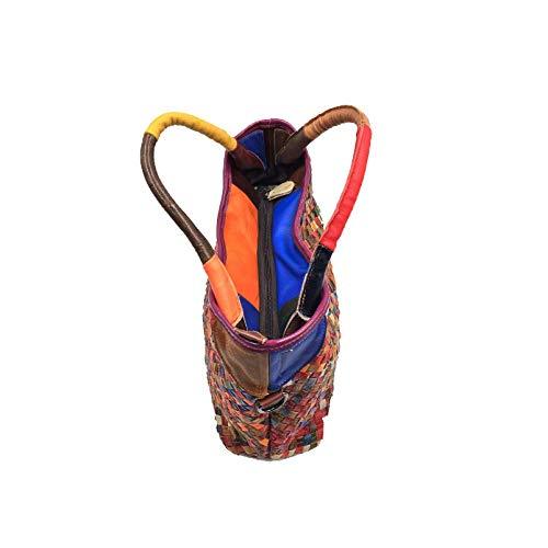 Européen Tissés Femmes Pour AJLBT Multicolore Main Main Et Sacs La Sac Mode Style Main à Multifonctionnels à à Américain XnXq6B