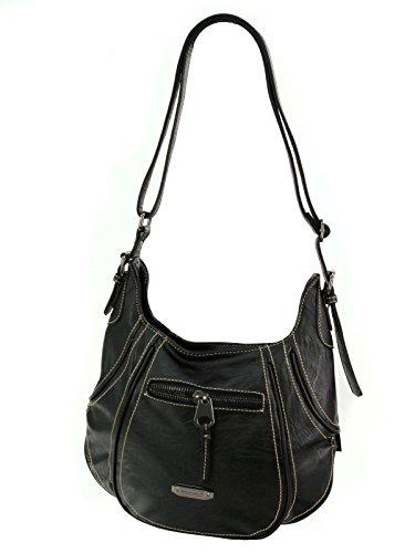 El Hombro Madera Negro Stück Bandolera 1 Negro Top Street De Manhatten Bag Moderno Bolso Para wqxTXYv