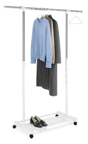 Whitmor Deluxe Adjustable Garment Rack, White