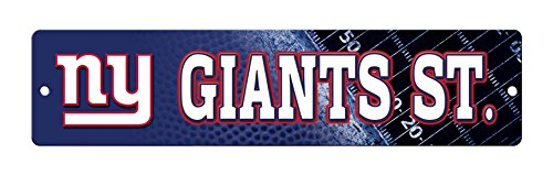- NFL New York Giants 16-Inch Plastic Street Sign Décor