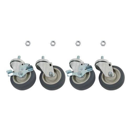 Generic 35809 Caster Set, 1/2'' Threaded Stem, 4'' Wheels, by Generic