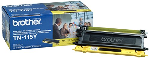Brother TN115Y (Yellow) Toner Cartridge, High Yield: 4000 (Tn115 Yellow Toner)