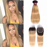 Best Hair Weave Blonde 3 Bundles - 1b/27 Ombre Blonde Brazilian Straight Hair Weaves 3 Review