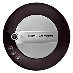 Rowenta Extreme Air Motion Iconic Black - Robot aspirador (flujo de aire 6 l/s), color negro
