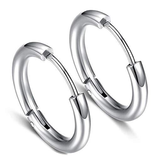 HOUBL Simple:Good Style Big Star Big Hoop Earrings for Women's Barbecue Gold and Silver Jewelry Earrings Small Exquisite Jewelry Party Club le0196,Silver5