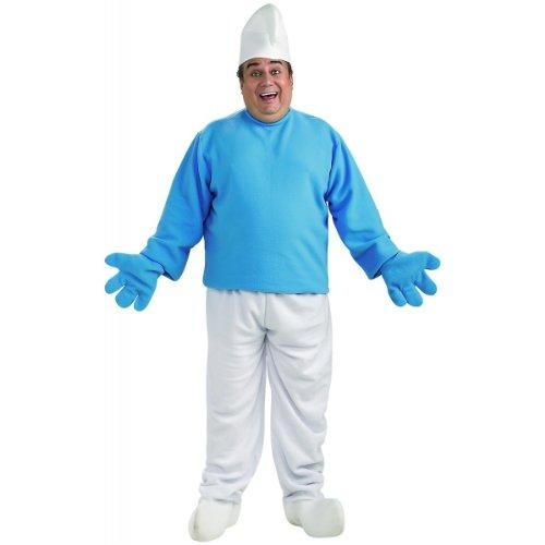 Adult Smurf Costume, Blue/White, -