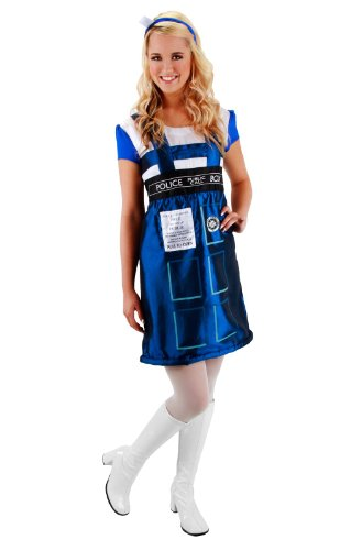 [DOCTOR WHO TARDIS DRESS SM MD] (Dr Who Police Box Costume)
