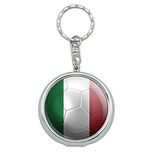 rtable Pocket Purse Ashtray Keychain Soccer Futbol Football Country Flag I-Z - Italy Flag Soccer Ball Futbol ()