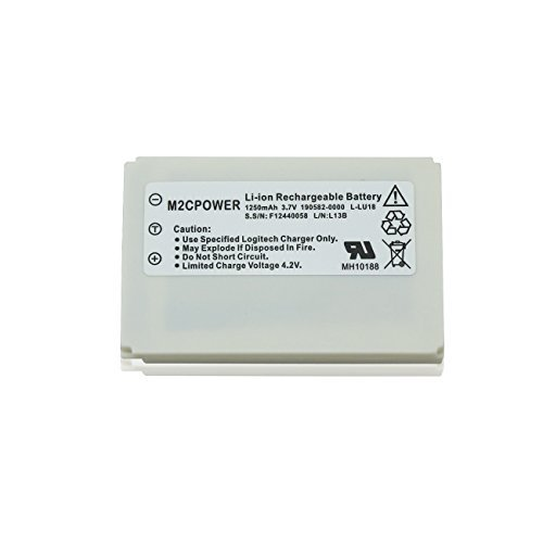 M2cpower Logitech Harmony 1250mah 3.7v Li-ion Remote Control Replacement Battery for 915 / 1000 / 1100i / L-lu18 / Lu18, 1 Piece