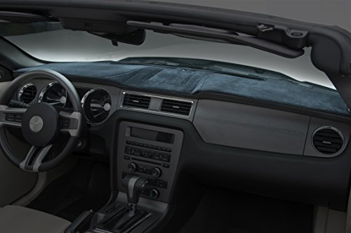 Coverking Custom Fit Dashboard Cover for Select Dodge Caravan Models - Velour (Dark Blue)