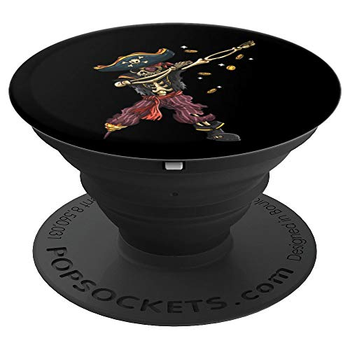 Dabbing Skeleton Pirate Art   Halloween Kids Men Costume - PopSockets Grip and Stand for Phones and Tablets -