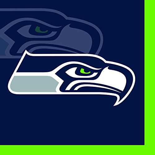 picture of Creative Converting 16 Count Seattle Seahawks Beverage Napkins