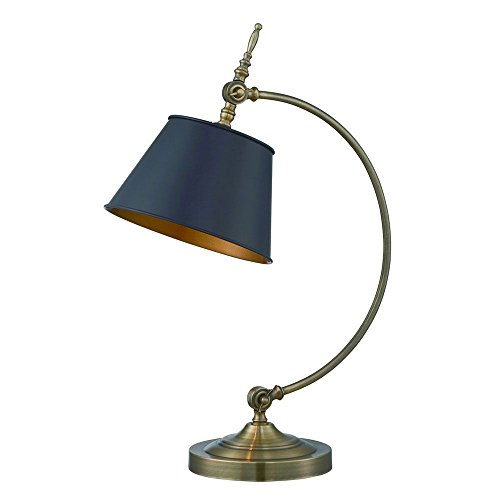 Polished Brass Table Lamp Black Shade Polished Brass Metal Body