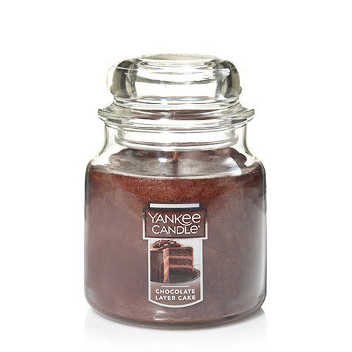 Yankee Candle Chocolate Layer Cake Medium Jar Candle ,Food & Spice Scent