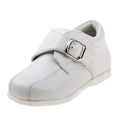 Josmo Boy\'s Walking Dress Shoe, White, 7 M US Toddler'