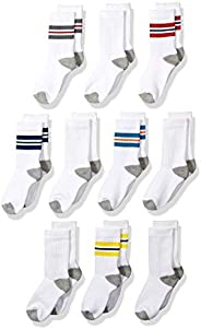 Amazon Essentials boys Cotton Crew Gym Socks Casual Sock