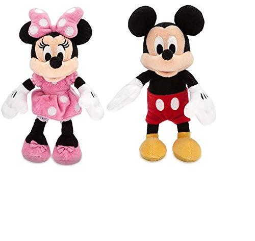 Disney Mickey and Minnie Mouse Bean Bag Plush -