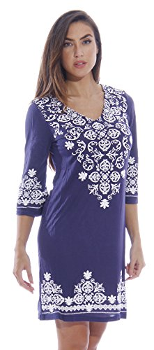 32bff770df Just Love Womens 3/4 Sleeve Swimsuit Cover Up Casual Tunic Resort ...