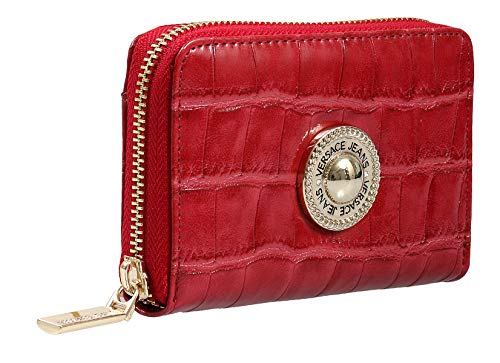 Versace EE3VSBPO2 E500 Red Compact Wallet for Womens