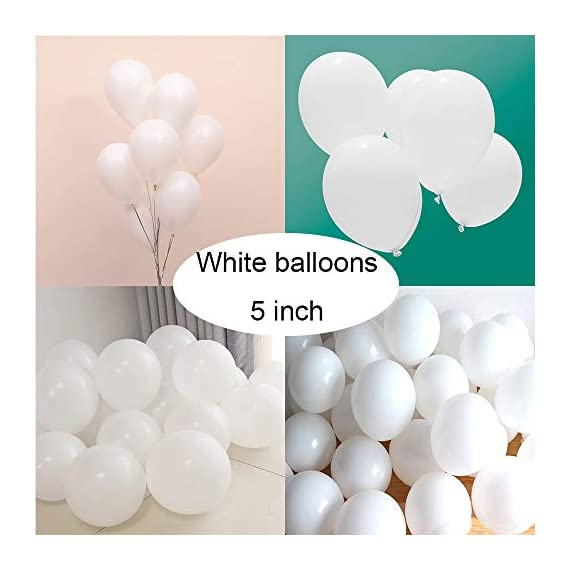 - 41rORetbKdL - Latex White Balloons for Party 200 pcs 5 inch Macaron White Balloons for Baby Shower Birthday Wedding Engagement Anniversary Christmas Festival Picnic or any Friends & Family Party Decorations