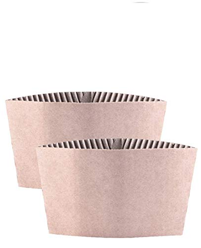 Kindpack Protective Corrugated Coffee Cup Sleeves For 12oz 16 oz 22oz 24oz,50 Count And 500 Count