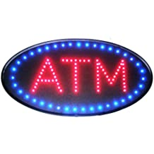 Ultra Bright Open Led Neon Business Motion Light Sign. On/off with Chain 19101 (Oval ATM S86)