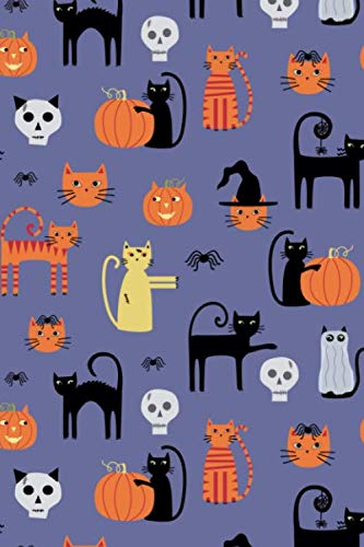 Notes: A Blank Guitar Tab Music Notebook with Halloween Cats Cover Art