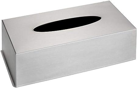 Wenko Caja para Panuelos, Acero Inoxidable, Plata, 12x25x8 cm ...