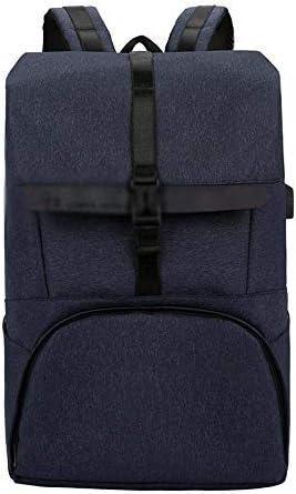 BAJIMI ハイキングバックパック、学生のバックパック、女性男性ビジネスラップトップバックパック、ブルーのポートカレッジスクールコンピューターバッグを充電USBで旅行のラップトップバックパック