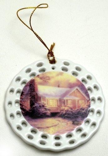 SkuBros Thomas Kinkade 'Christmas Cottage' Ornament (Marco Polo Costume)