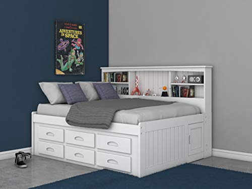 - Discovery World Furniture Full Bookcase Daybed with 6 Drawers White