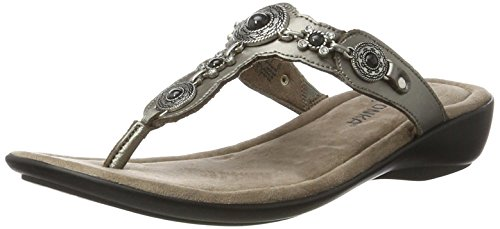 Thong Women's Sandals Pewter Boca III Minnetonka w6qEYSP