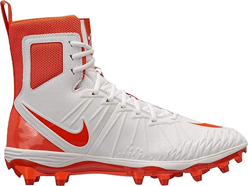 White Football Cleat - Nike Mens Force Savage Varsity Football Cleats White/Rush Orange 880140 188 (US 11.5)