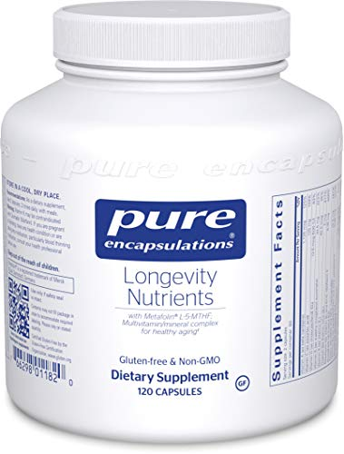 Pure Encapsulations - Longevity Nutrients - Multivitamin/Mineral Complex for Healthy Aging* - 120 Capsules