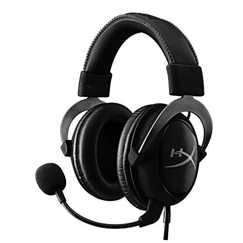 HyperX Cloud II Gaming Headset – 7.1 Surround Sound – Memory Foam Ear Pads – Durable Aluminum Frame – Works with PC, PS4, PS4 PRO, Xbox One, Xbox One S – Gun Metal (KHX-HSCP-GM)