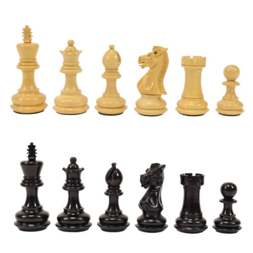 Wholesale Chess Chamfered Staunton Style Ebonized Wood Chess Pieces - 2.5