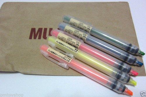 MoMa JAPAN MUJI Press Highlight pen set Yellow Orange Pink Green Blue (Muji Press compare prices)