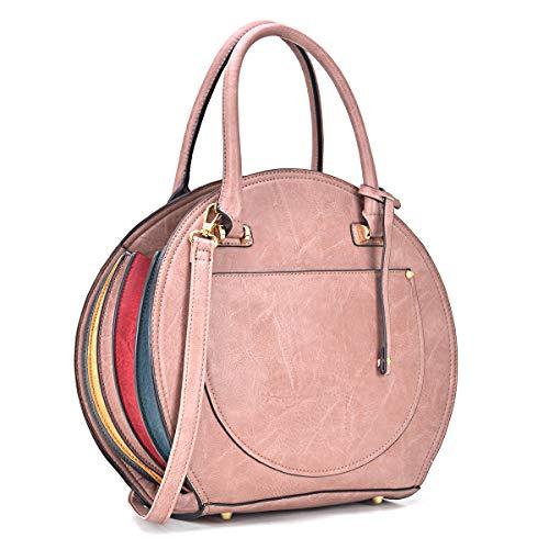 Women Purses and Handbags Stylish Ladies Crossbody Designer Satchel Medium Shoulder Bag Cute Tote (7059 Blush)