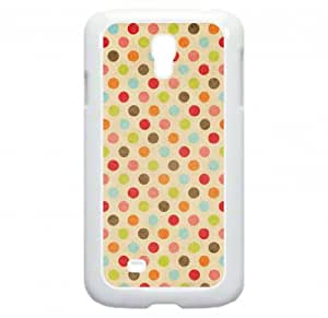 Colorful Polka Dots Hard white Snap on plastic case - for the Samsung« Galaxy S4 I9500 Case