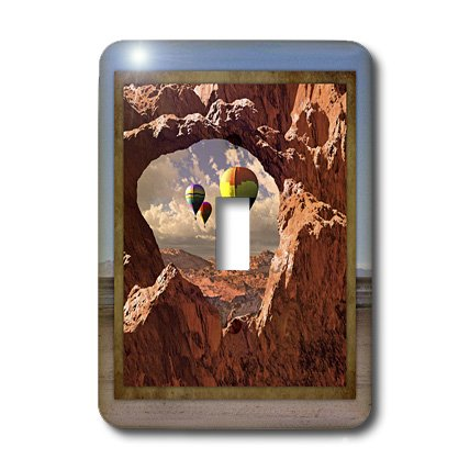 3dRose LLC lsp_41300_1 Hot Air Balloons in the Southwest, Single Toggle Switch by 3dRose