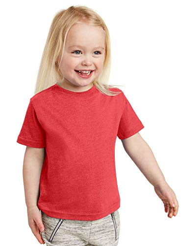 Rabbit Skins RS 3321 Toddler SS Jersey TEE, Vintage RED, 4T