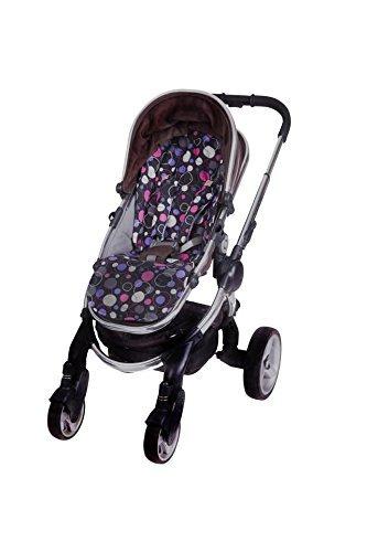 Bambella Designs Stroller Liner - Purple Circles BayB Brand BDD-408