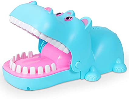 Funny Biting Finger Hippo Dentist Board Game Toy For 4 Player Kids Interactive