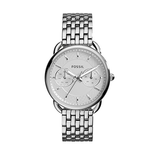 Fossil Women's ES3712 Tailor Silver-Tone Stainless Steel Watch (Best Fossil Watches For Women)