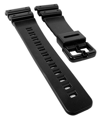 Casio G-shock 71604262 Original Factory Black Rubber Watch Band Strap fits DW-6100-1V DW-6100-7V DW-6900-1V DW-6900G-1V ()