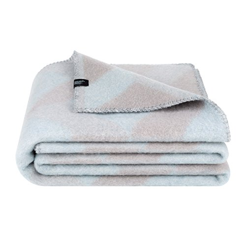 Woolkrafts Merino Wool Throw Blanket (55 x 80 inch) (Grey, Silver)